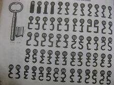 Alte Haustür Nr. 96 Bartschlüssel 23 mm hoch 8 mm Halm aus alter Serie