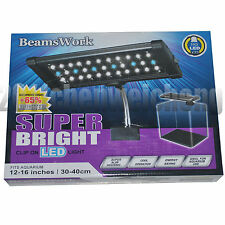 Super 10000K 33 LED clip light for nano 30-40cm coral, plants aquarium fish tank