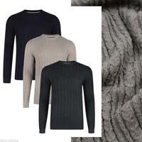 TOKYO LAUNDRY MENS CABLE KNIT JUMPER FINE KNIT SWEATER 1A7196 CROMPTON