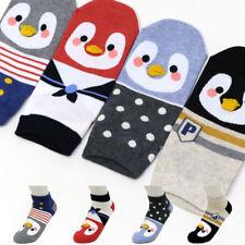 4 Pairs Penguin Friends Character Socks Girls Women Big Kids Cute Cartoon Socks
