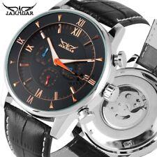 JARAGAR Automatic Mechanical Watch Men Calendar Wristwatch Leather Band Day Gift