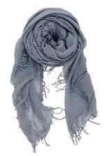 Chan Luu Cashmere & Silk Scarf Wrap Solid CLOUD GREY (Blue-Gray) BRH-SC-140