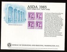 B63 Mint BEP Souvenir Card 1983 ASDA New York Victor Herbert Cat $12.00