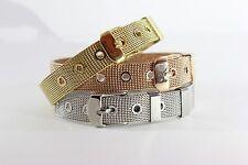 Mesh Milanaise Schmuck Uhr Gürtel Armband aus Edelstahl für Frauen
