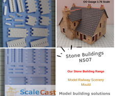 NEW NS07 Stone Building Mould Fancy Edging - Model Railway Scenery - ScaleCast