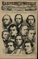 Georgia Delegation in Congress Toombs Crawford 1861 great old print for display