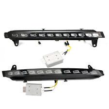 2x For Audi Q7 07-09 Daytime Running Lights White LED DRL Fog Yellow Turn Signal