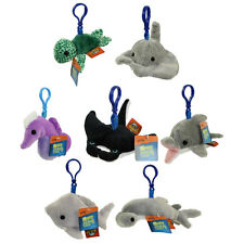 Adventure Planet Plush - Mighty Clips - SET OF 7 OCEAN ANIMALS (Key Clips)
