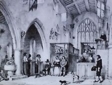 Chapel, Haddon Hall, Magic Lantern Glass Slide, From a Book Illustration