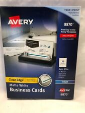 Avery Printable Business Cards Inkjet Printers 1000 Cards 8870 White 2x 35