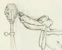 RARE 1939 Walt Disney Society Dog Show Pluto Animation Drawing Mickey Mouse  # 2