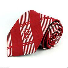 Oklahoma Sooners Mens Necktie College University Alunmi Red Plaid Neck Tie New