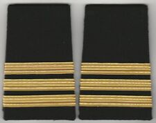 3 Bars Airline Pilot / Merchant Marine slip shoulder boards. FREE SHIPPING