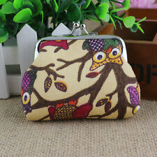 Fashion Women Lovely Style Small Wallet Hasp Owl Purse Clutch Bag Handbag Khaki