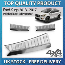 FORD KUGA 13-17 POLISHED CHROME STAINLESS STEEL BOOT SILL PROTECTOR COVER GUARD