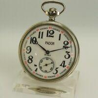 Rare Eisenbahner PADOR Taschenuhr Herren Uhr Uhren no fusee duplex chronometer