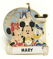 Disney Mickey Minnie Donald Disneyland Pin Name Mary