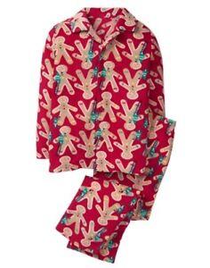 NWT Gymboree Christmas Fleece Pajama Set Boys Girls Gingerbread XXS, XS,S,M,L