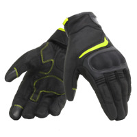 Gloves moto Dainese Air Master black yellow spring summer perforated certified