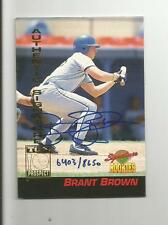 Autographed Baseball Card - BRANT BROWN - Authentic Signature Rookie - 6403/8650