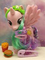 "My Little Pony G4 PRINCESS CELESTIA 6"" Purple Glittery Wings Tinsel Hair MLP FIM"