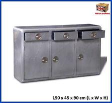 Industrial Vintage Sideboard Storage Buffet Cabinet Drawers Aircraft Wood Metal