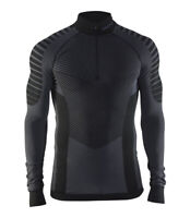 Funktionsshirt CRAFT Active Intensity Zip, Herren, Kompression, Langarm, schwarz