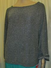 BNWT NICHOLAS MILLINGTON BLACK AND SILVER GLITTER TOP SIZE 26