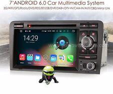"AUTORADIO Android 6.0 7"" Audi A3 Navigatore Comandi Volante USB/SD Bluetooth DAB"