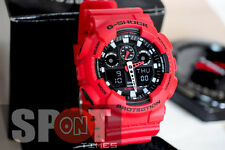 Casio G-Shock X-Large Red World Time Men's Watch GA-100B-4  GA100B 4