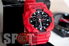 Casio G-Shock X-Large Red World Time Men's Watch GA-100B-4  GA100B 4