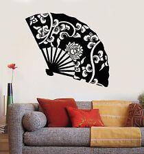 Vinyl Wall Decal Hand Fan Asian Decor Beauty Oriental Art Stickers (453ig)