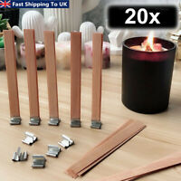 20x Wooden Candle Wicks Core Sustainer Set DIY Candle Making Supplie