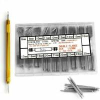 ❤Watchmaker Watch Band Spring Bars Strap Link Pins +Remover Steel Repair Kit Set