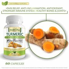 Turmeric Curcumin Pills with Bioperine Natural Pain Relief and Joint Support ...