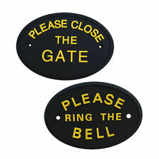 2x Tree Wall Plates PLEASE  THE BELL PLEASE