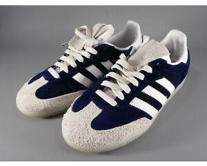 Adidas Samba Blue Velvet & White Stripes Size US5 1/2, UK 5