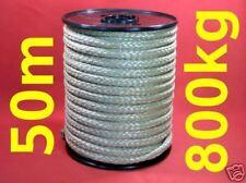 50m Seil Kunststoffseil 10mm geflochten 800kg beige