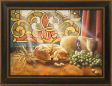 OUR DAILY BREAD by Doug Knutson 12x16 FRAMED PRINT PICTURE Religious Bread Wine