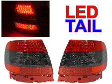 DEPO Red/Smoke LED Tail Light Lamp Pair For 1996-2001 Audi A4 S4 4D Sedan B5