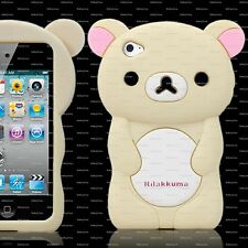CREAM TEDDY BEAR Silicone Back Case, Suits iPod Touch 4 / 4th Gen / FREE POSTAGE