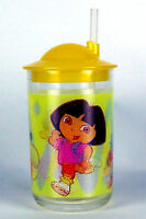 DORA THE EXPLORER CUP WITH STRAW. A set of two!