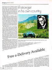 MASTEN GREGORY Racing History Article / Picture / Photo: Targa Florio