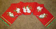 Frosty Frolic Snowmen ~ Christmas Tapestry Table Runner