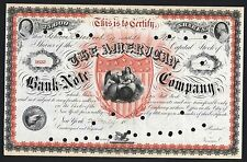c1869 - American Bank Note Co - FANTASTIC Stock Certificate - ONLY 5 known!!