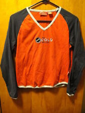 Coca-Cola Brand OFFICIAL L/Sleeve Bottle Cap T Shirt Juniors MED Red Blue