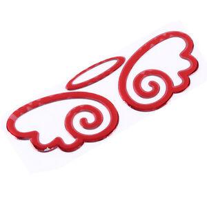 Got Car Eyelashes Then Get This Red Angel Car Badge Enhancer