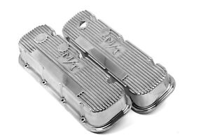Holley 241-84 Mickey Thompson Polished Valve Covers M/T Big Block Chevy