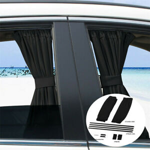 2x Adjustable VIP Car Auto Side Window Baby Sun Shade Shield Cover Curtain Visor