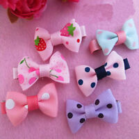 10PCS Girls Baby Children Hair Accessories Bows Snaps Alligator Clips Slides